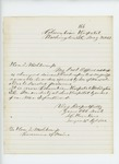1862-05-25  S.C. Hunkins reports to Governor Washburn that he is on duty at Columbia Hospital since his parole