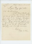 1862-05-27  Alden D. Chase wishes permission to visit the 4th Regiment