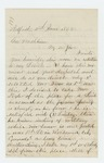 1862-06-04  Charles L. Strickland writes Governor Washburn regarding Lieutenants Snow and Fogler