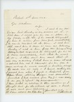 1862-06-04  Charles L. Strickland writes Governor Washburn regarding difficulty with Mr. Singer