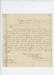 1862-07-09  Colonel Walker requests a lieutenant's commission for George M. Redlow of Company B