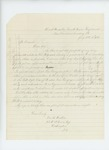 1862-07-11  George M. Redlon applies for a commission in a new regiment