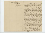 1862-07-21  Orderly Sergeant John Butler requests to return to Maine for recruiting
