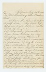 1862-07-22  Lieutenant Charles Burd requests a commission as Captain in a new regiment