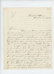 1862-07-23  Dr. S.C. Hunkins writes regarding invalid soldiers