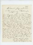 1862-07-24  Julius B. Litchfield requests promotion to Captain