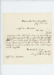 1862-07-31   Sergeant John Butler requests aid in transfer to Augusta Hospital
