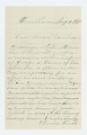 1862-08-01  David Vinal recommends George S. Carver for promotion