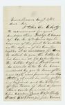 1862-08-03  John Carver recommends George S. Carver of Company A for promotion
