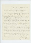 1862-08-04  James Roberts recommends Sergeant George S. Carver for appointment to new regiment