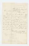 1862-08-07  N.C. Woodard requests transfer of Wyman Ulmer to Augusta hospital on behalf of Ulmer's sister