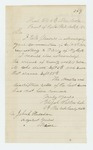 1862-10-05  Elijah Walker acknowledges request for regimental history and notes arrival of 28 new recruits