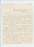 1862-10-07  Colonel Walker sends a petition requesting appointment of Charles McCobb as assistant surgeon