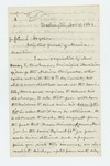 1862-11-15  Edmund Flagg requests discharge for Henry E. Burkman