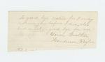 1862-11-19  Lucy Feyler sends fragment of goodbye note from her brother Henderson Feyler