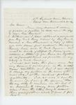 1862-11-28  Major William L. Pitcher requests position as aide de camp