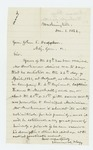 1862-12-01  Edmund Flagg writes on behalf of Mr. Burkman
