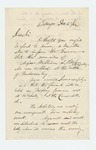 1862-12-23  E.F. Durew informs the Governor that the remains of Major William L. Pitcher arrived in Bangor