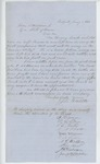1863-01-01  James P. White and others request a lieutenant's commission for Henry Leach of Company F