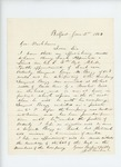 1863-01-02  J.D. Tucker requests a promotion for Sergeant George Bragg, wounded in the head at Bull Run