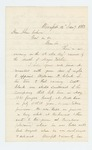 1863-01-09  Wales Hubbard recommends Captain William H. Clark for vacancy left by death of Major Pitcher