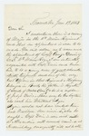 1863-01-19  T. Harmon recommends George Davis for promotion