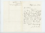 1863-01-22  J.D. Tucker recommends Orderly Sergeant G. M. Bragg for promotion