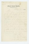 1863-02-11  George W. Hatch declines commission of Assistant Surgeon due to ill health from Antietam