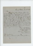 1863-02-16  Assistant Surgeon Albion Cobb requests appointment as surgeon in a colored regiment