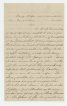 1863-03-02   Sergeant Thomas B. Campbell of Company E solicits a position as 2nd Lieutenant from George A. Starr