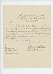 1863-03-06  Colonel Walker writes Governor Coburn recommending promotions in the regiment