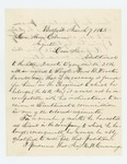 1863-06-07  John L. Locke recommends Sergeant Amos B. Wooster for commission in the colored regiment if no vacancy is available in the 4th Regiment