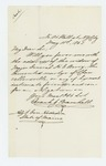1863-05-11  Frank J. Bramhall requests the address of General Berry's widow