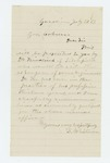 1863-07-20  S. Whitmore recommends Dr. Kindrick for surgeon