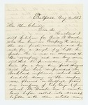 1863-08-04  William Pitcher forwards petition for promotion of Amos B. Wooster