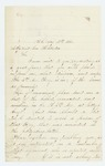 1863-08-19  Mary P. Barnes requests list of killed, wounded, and missing in Company F after Gettysburg