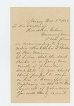 1863-10-08  H.W. Millett recommends Elisha Bisbee for promotion