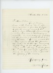 1863-10-18  B.M. Roberts recommends Sergeant Leach for promotion