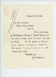 1863-10-19  Joseph Williamson acknowledges receipt of death certificate of Michael Raridan and requests signed receipt of voucher
