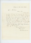1863-10-23  W.P. Harriman and citizens of Belfast request promotion of Augustus S. Lord of Company A