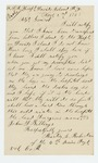 1863-11-02  Martin L. Robertson writes regarding his discharge from the hospital at Davids Island