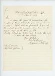1863-11-03  Lieutenant Charles F. Sawyer acknowledges receipt of blank returns