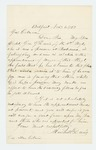 1863-11-06  Marshall Davis inquires about a commission for his son Captain George G. Davis, imprisoned at Richmond