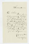 1863-11-08  B.M Roberts recommends Orderly Sergeant C. Gray for promotion
