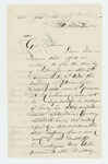 1863-11-08  B.M Roberts recommends Captain George Davis for promotion