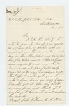 1863-11-09  Sergeant John Somes requests his discharge