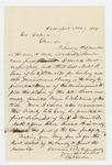 1863-11-09  Letter requesting promotion of Captain Robert Gray