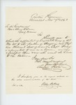 1863-11-09  Erastus Foote recommends promotion of Captain Robert Gray to Major