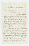 1863-11-13  Woodbury Davis writes Governor Coburn regarding Captain Davis and Colonel Walker