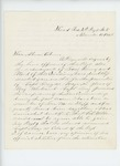 1863-11-17  Dr. S.C. Hunkins writes Governor Coburn regarding promotion of Captain Robert Gray in place of Major Whitcomb
